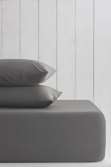Charcoal Grey Cotton Rich Deep Fitted Sheet