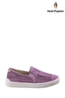 Hush Puppies Orchid Suede Gabbie Woven Slip-On Shoes