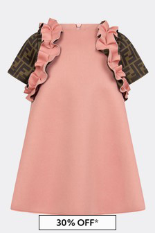 Fendi Kids Baby Girls Pink Dress