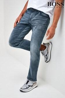 BOSS Grey Delaware Slim Fit Jeans