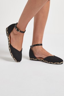 Black Espadrille Two Part Shoes