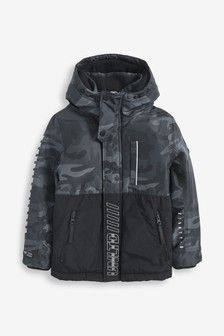Black Camo Heavyweight Anorak (3-16yrs)