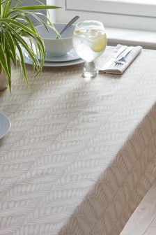 Linen Mix Wipe Clean Table Cloth