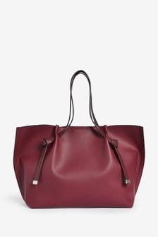 Berry Knot Detail Shopper Bag