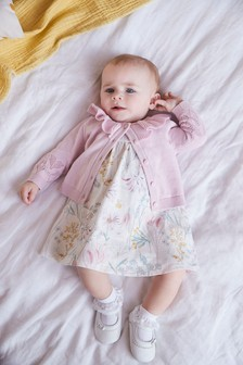 Lilac Frill Collar Cardigan (0mths-2yrs)