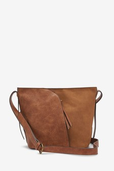 Tan Bucket Across Body Bag