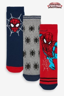Red/Blue 3 Pack Spider-Man™ Cushioned Socks (Younger)