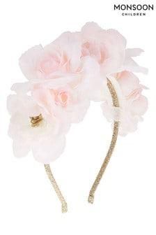 Monsoon Pink Gardenia Flower Headband