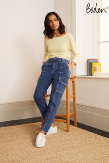 Boden Blue Utility Tapered Leg Jeans