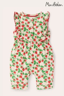 Boden Pink Jersey Ruffle Playsuit