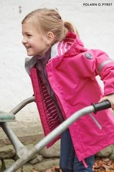 Polarn O. Pyret Purple Waterproof Shell Coat