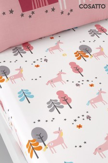 Set of 2 Cosatto Pink Unicornland Cot Fitted Sheets