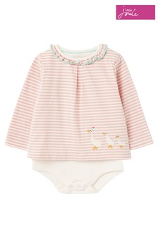 Joules Pink Kara Mock Layer Bodysuit