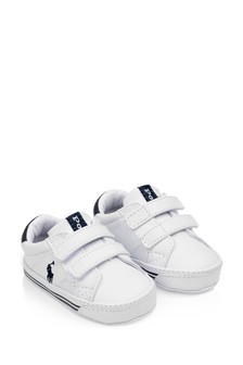 Baby Boys White Prewalker Trainers