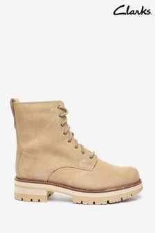 Clarks Taupe Suede Orianna Hi Boots