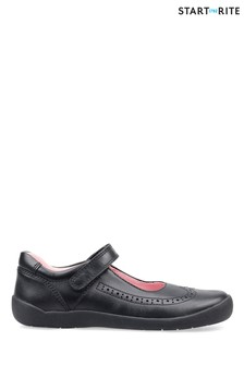 Start-Rite Spirit Black Leather Shoes