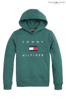 Tommy Hilfiger Green Flag Logo Hoody