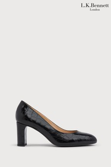 L.K.Bennett Black Winola Block Heel Pumps