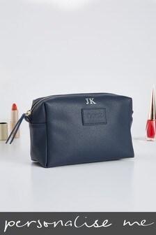 Personalised Navy Cosmetic Bag