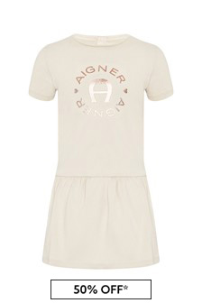 Aigner Cream Cotton Dress