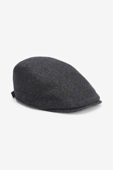 Dark Grey Flat Cap