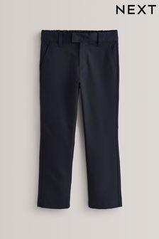 Navy Slim Waist Formal Slim Leg Trousers (3-17yrs)
