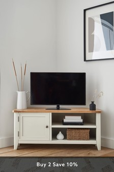 Newhaven Painted Corner TV Stand