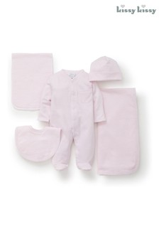 Kissy Kissy Pink Striped 5 Piece Gift Set