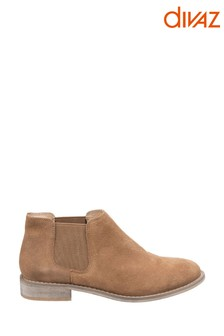 Divaz Brown Megan Chelsea Shoe Boots
