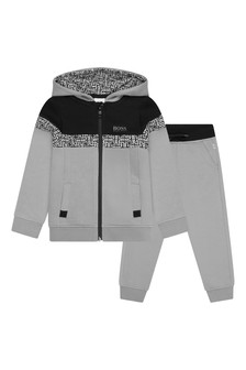 Boys Grey/Black Tracksuit