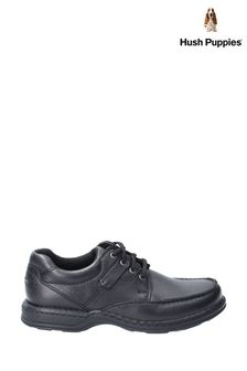 Hush Puppies Black Randall II Lace-Up Shoes
