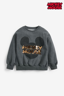 Charcoal Mickey Mouse™ License Crew Neck Sweat Top (3-16yrs)