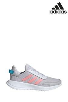 adidas Run Grey/Pink Tensaur Run Youth Trainers