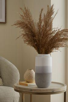 Grey Ombre Ceramic Vase