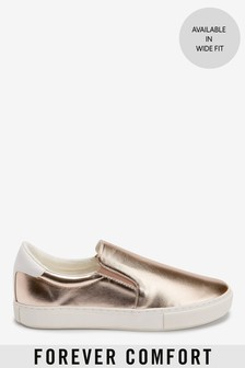 Rose Gold Forever Comfort® Slip-On Trainers