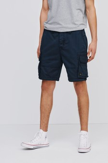 Premium 100% Cotton Laundered Stitch Detail Utility Cargo Shorts