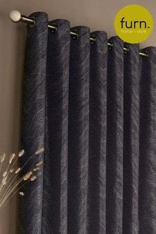 Himalaya Shimmer Jacquard Eyelet Curtains by Furn