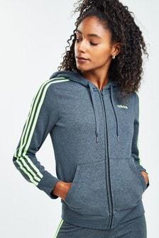 adidas Essentials 3 Stripe Zip Through Hoody