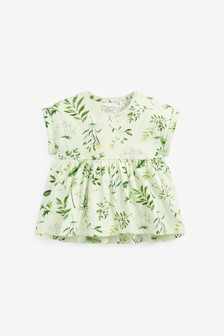 Green Floral Organic Cotton T-Shirt (3mths-7yrs)