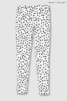 Mint Velvet Ivory Willow Star Print Leggings