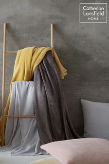 Raschel Velvet Touch Plush Extra Large Throw by Catherine Lansfield