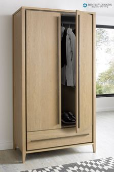 Rimini Oak Double Wardrobe by Bentley Designs