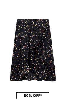 Girls Starry Night Viscose Skirt