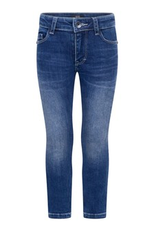 Boys Blue Stone Washed Regular Fit Jeans