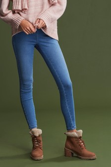 Mid Blue Super Stretch Soft Sculpt Pull-On Denim Leggings