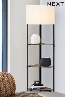 Corner Shelf Floor Lamp