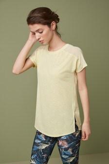 Lemon Short Sleeve Mesh Panel T-Shirt