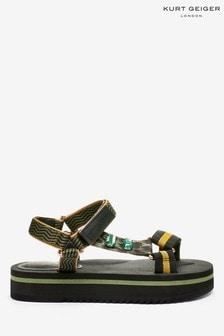 Kurt Geiger London Green Olivia Flat Sandals