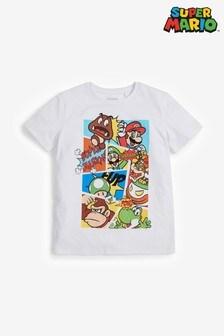 White Mario T-Shirt (3-16yrs)