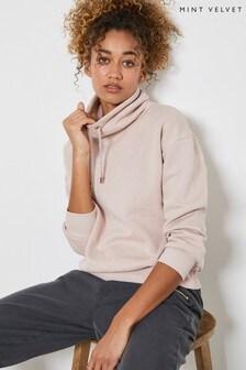 Mint Velvet Pink Funnel Neck Sweatshirt